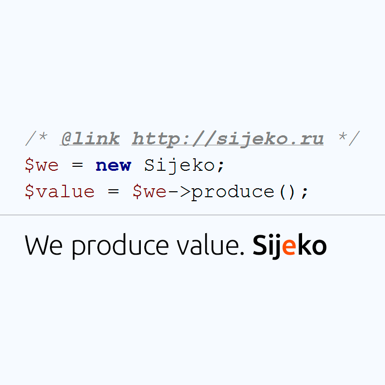 Sijeko. We produce value